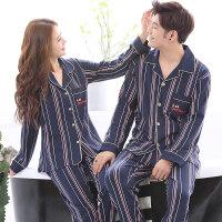 情侣睡衣长袖春秋季韩版运动套装男款女士薄款大码家居服