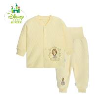 迪士尼Disney婴儿保暖内衣套装秋冬暖棉男女宝宝加厚秋衣154T624