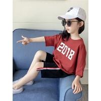 套装女童夏装新款女宝宝洋气套装短袖五分裤运动服两件套童装