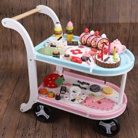 玩具 水果切切乐儿童木制切水果玩具蔬菜切切看切切乐男女孩过家家切蛋糕玩具套装A