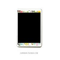 ipad air2钢化膜苹果ipad mini4贴膜1/3/5保护膜新ipad6卡通pro女 mini4 米奇