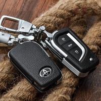 丰田钥匙包 真皮 16款新RAV4荣放卡罗拉雷凌凯美瑞汉兰达锐志普拉多钥匙套钥匙扣 17款卡罗拉逸致霸道威驰致炫 钥匙