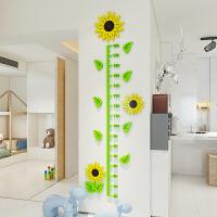 艾欧唯 向日葵3d立体身高贴儿童量身高墙贴测身高尺宝宝房贴纸装饰可移除 小