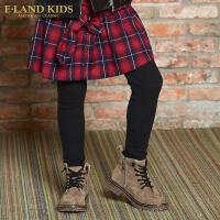 【双十二1件2.5折价:159.5元】Eland kids衣恋童装秋季女童复古格子裙裤EKTM74T26B