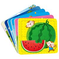 动手动脑玩拼图2-3岁全6册12张小红花童书 畅销书儿童拼图玩具 幼儿益智拼图 儿童读物畅销玩具书籍