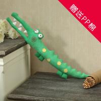 DIY手工布艺玩偶DIY材料包 不织布鳄鱼布偶布娃娃材料包