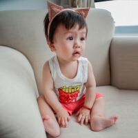 婴儿背心夏季 新生儿衣服小吊带6纯棉0-3个月夏装打底 宝宝薄款潮