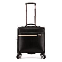 商务男士拉杆箱万向轮18寸 出差行李箱登机旅行箱女 pu小皮箱时尚