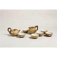 茶具套装陶瓷纯手工2018新品陶瓷茶具套装整套手工上釉功夫茶具 黄沙