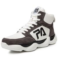 男士高帮鞋男鞋秋季韩版潮流百搭高邦篮球鞋嘻哈鞋子男跑步运动鞋