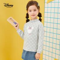 【3折�A估�r:38.2元】迪士尼女童��力棉打底衫2020秋冬新款�����和��r尚洋�忾L袖T恤