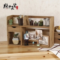 实木小书架简易书柜zakka家居书桌电脑桌书柜桌面收纳柜储物架子