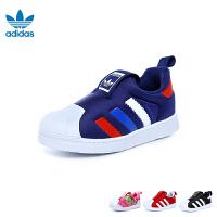 阿迪达斯Adidas童鞋18新款儿童运动鞋三叶草系列训练鞋男女童小板鞋婴幼童贝壳头休闲鞋 (0-4岁可选) BA804