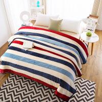 毛毯冬季珊瑚绒毯子双人加厚床单宿舍办公室单人法兰绒午睡空调毯