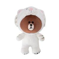 韩国大号恐龙造型变身布朗熊line friends公仔白虎玩偶小粉猪毛绒玩具礼物