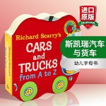 英文原版绘本 Richard Scarry's Cars and Trucks from A to Z 斯凯瑞英语字母
