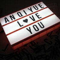 家居生活用品字母灯箱房间布置装饰灯LED浪漫少女心礼物表白神器INS寝室