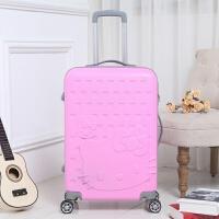 可爱拉杆箱女行李箱儿童旅行箱韩版皮箱20寸24寸28寸密码箱双卡通