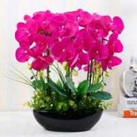 蝴蝶兰仿真花套装摆件 客厅装饰花假花整体花瓶绢花花艺摆设盆栽