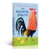 英文原版 Richard Scarry's the Rooster Struts 纸板书 I am a bunny 我是一只兔子同系列 儿童绘本 启蒙入门绘本