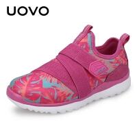 【1件3折】UOVO童鞋新款儿童运动鞋男童运动鞋中大童套脚休闲鞋女春秋潮鞋波兰