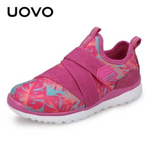 UOVO童鞋新款儿童运动鞋男童运动鞋中大童套脚休闲鞋女春秋潮鞋波兰