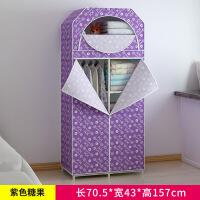 简易布艺衣柜单双人折叠组装收纳挂衣橱简约现代经济型钢架衣柜子