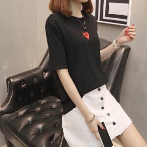 女装夏装2018新款网红同款上衣短袖女宽松韩版学生闺蜜装