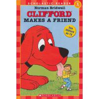 Clifford Makes A Friend (Level 1)学乐分级读物1:大红狗交朋友ISBN9780590379304