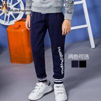 【满200-100】暇步士男童裤子新品秋装单层长裤中大童时尚儿童运动长裤