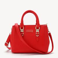 女士包包新款欧美手提包时尚女包红色结婚新娘包单肩斜挎小包 红色 926#大号