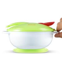 【支持礼品卡】婴儿吸盘辅食碗感温勺套装 防摔吸盘餐具5um