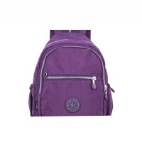 男女士时尚休闲双肩包 尼龙布小背包 运动休闲小背囊多袋超轻SN1436 紫色 紫色见图