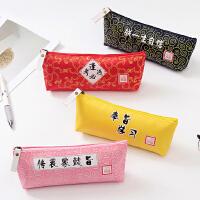 宫廷风皇宫创意朕的圣旨到御用笔袋学生文具帆布笔袋个性笔袋
