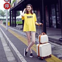 迷你拉杆箱16寸可登机箱万向轮小型行李箱18寸化妆旅行箱男女商务SN7827 16寸