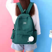 双肩包女休闲校园书包女高中学生后背包