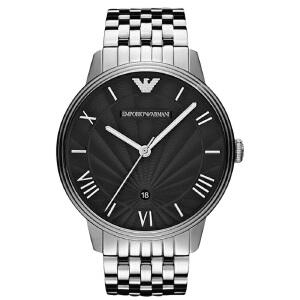 阿玛尼(Emporio Armani)手表 商务时尚钢带石英男士腕表 AR1614