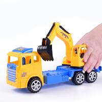 【悦乐朵玩具】儿童玩具车模型惯性工程车塑料仿真挖土机挖掘机模型玩具车3-6岁
