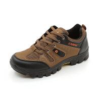 秋季登山鞋休闲运动旅游鞋男户外徒步鞋网面透气轻便爬山单鞋