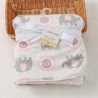婴儿毛毯 包被抱被 短毛绒复合小被子童毯宝宝盖毯垫被