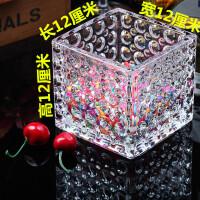 四方花瓶加厚透明玻璃水培多肉养绿萝风信子金无土栽培白掌花盆