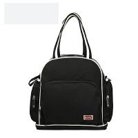 妈咪包多功能大容量双肩妈妈包母婴包外出背包时尚妈咪包 黑色