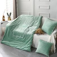 汽车抱枕被子两用车载多功能靠垫珊瑚绒个性可爱纯棉可折叠空调被
