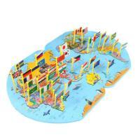 世界地图插国旗儿童认识木质拼图智力开发3岁幼儿园益智玩具4-6岁