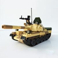 兼容乐高古迪拼装积木地球边境T-62坦克科幻飞机军事益智拼插儿童