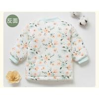 新生的0婴儿保暖上衣3个月6秋冬9防寒加棉外套宝宝夹棉上衣装