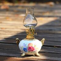 新品陶瓷煤油灯老式洋油灯玻璃灯罩酥油灯搬家乔迁新房入伙