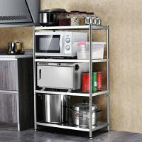 百露加厚不锈钢厨房置物架落地储物架多层微波炉烤箱收纳架用品