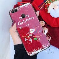 华为荣耀v9手机壳duk-al20套tL3o玻璃huawei冬天圣诞节软荣誉九女