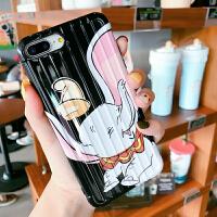 行李箱卡通小飞象8plus苹果x手机壳XS Max/XR/iPhoneX/7p/6女iPhone6s 黑底小飞象 ip